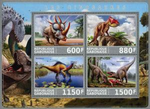 Gabon S/S Used Dinosaur #1 2017