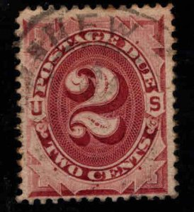 USA Scott J16 Used Postage Due nice centering perf tips toned Red Brown color