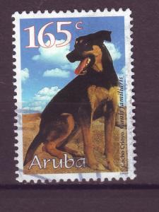 J15047 JLstamps 1999 aruba hv of set used #177 dog