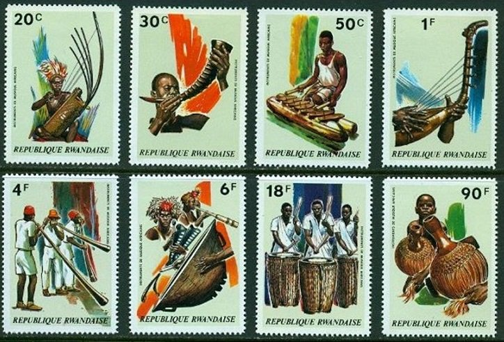 Rwanda MNH 515-22 Musical Instruments 1973