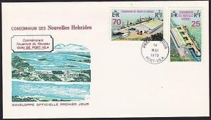 NEW HEBRIDES FRENCH 1973 Port Vila new Quay FDC............................68384