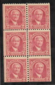 Canal Zone Scott #106a Mint NH 2c Booklet Pane of 6  2018 CV $22.50