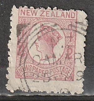 P1N2 New Zealand Used Newspaper Stamp