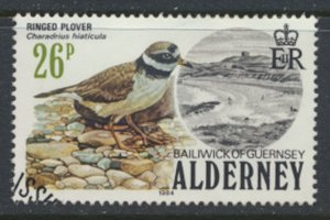 Alderney  SG A15  SC#  15   Birds Used First Day Cancel - as per scan
