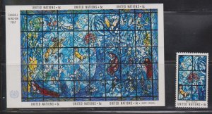 UNITED NATIONS NY Scott # 179-80 MH - Art At UN Issue