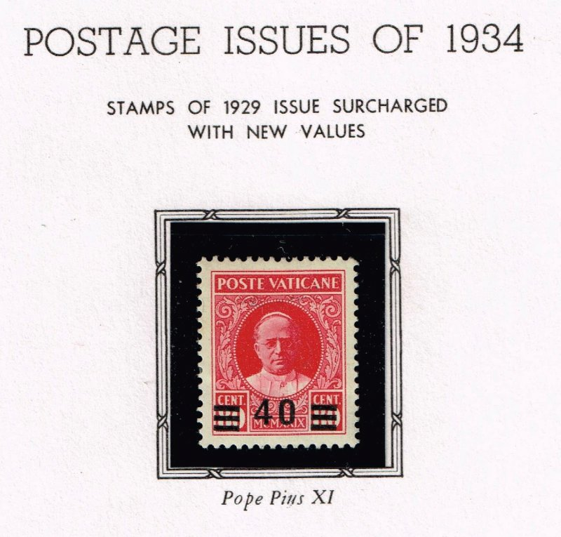 ITALY VATICAN CITY MH/OG STAMPS COLLECTION LOT #5 1934 ISSUES