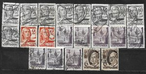 COLLECTION LOT OF 21 GERMANY  WURTTEMBERG 1948+ STAMPS CLEARANCE CV+ $20