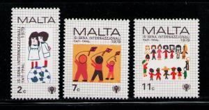 MALTA 1979 MNH SC.560/562 Int.Year of the Child
