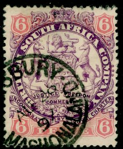 RHODESIA SG33, 6d mauve & pink, USED, CDS. Cat £28. DIE I