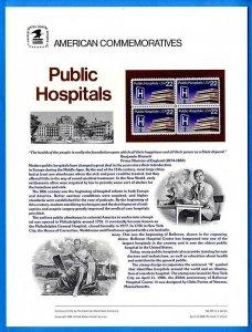 USPS COMMEMORATIVE PANEL #261 PUBLIC HOSPITALS #2210