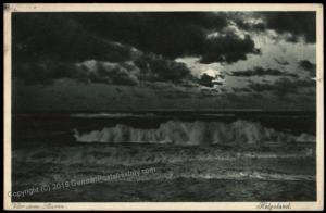 Germany Helgoland Storm Heligoland to Belgium 5pf Germania Stamp Cover 70988