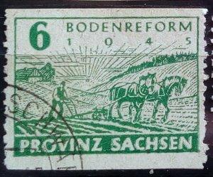 Germany Provinz Sachsen 85 Wa C Double print used
