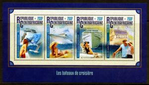 CENTRAL AFRICA 2016 CRUISE  SHIPS  SHEET   MINT NH