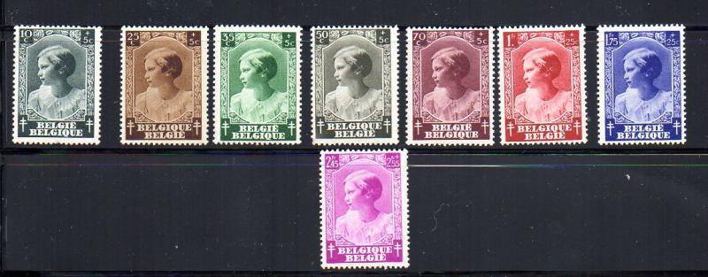 Belgium B200-B207 Mint LH