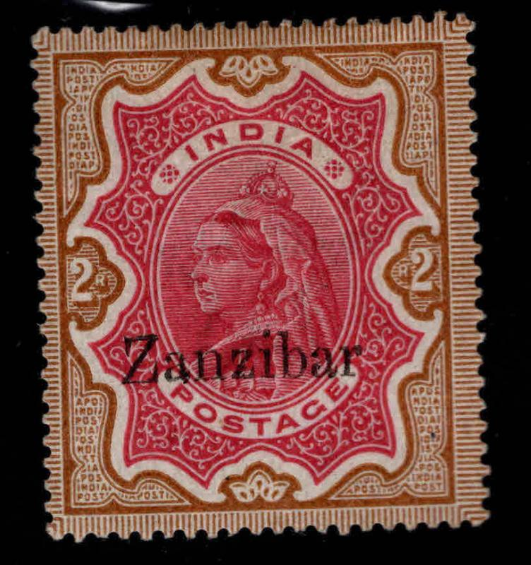Zanzibar Scott 14 MH*1895 Queen Victoria nice color collectors mark