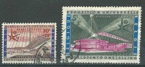 Belgium #B619, B624  used  1958  PD