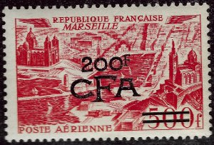 French Reunion C40 Overprint Mint OG F-VF hr SCV$55...French Colonies are Hot!!