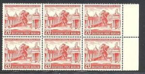Berlin  #9N103 Mint scarce block of 6 VF NH