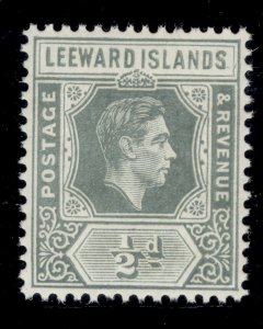 LEEWARD ISLANDS GVI SG97, ½d slate-grey, NH MINT.