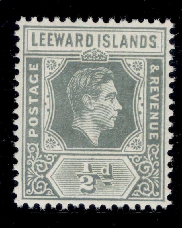 LEEWARD ISLANDS GVI SG97, ½d slate-grey, NH MINT.