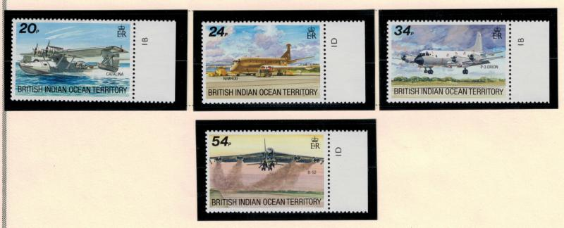 British Indian Ocean Territory (BIOT) Stamps Scott #124 To 127 (124-7), Mint ...