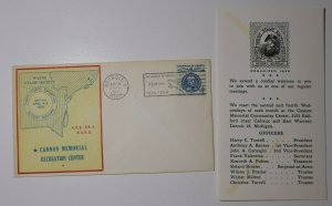 Wayne Stamp Society Detroit MI APS SPA 1950 Philatelic Expo Cachet Cover
