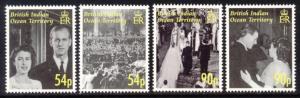 British Indian Ocean Territory Sc# 326-9 MNH Diamond Wedding Anniversary