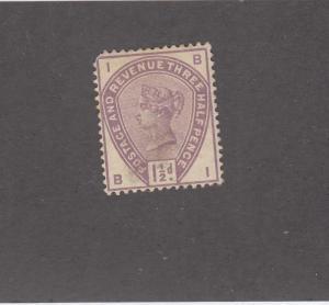 GB # 99 VF-MLH 1.5d LILAC SURFACE PRINTED ISSUE CAT VALUE $120