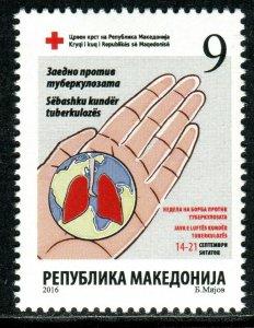 220 - MACEDONIA 2016 - Red Cross - Tuberculosis - TBC - MNH Set