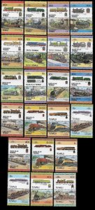 Small Collection of Tuvalia Stamps  (locomotives)  MNH