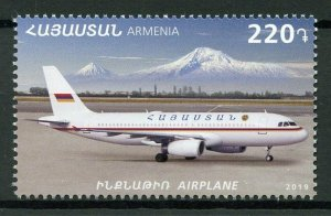 Armenia Aviation Stamps 2019 MNH Airplanes Means of Transport Mountains 1v Set