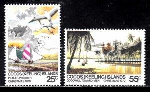 Cocos Islands, Sc 51-52, MNH, 1979, Christmas, (LL02330)
