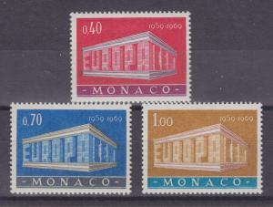 Monaco Sc 722-724 MLH. 1969 EUROPA-CEPT cplt VF