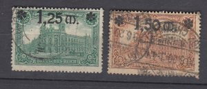 J28721, 1920 germany used #115-6 ovpt,s