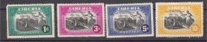 J27505 1947 liberia set mh #301-4 cannons
