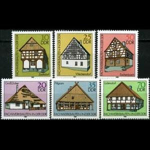 DDR 1981 - Scott# 2199-204 Farm Houses Set of 6 NH