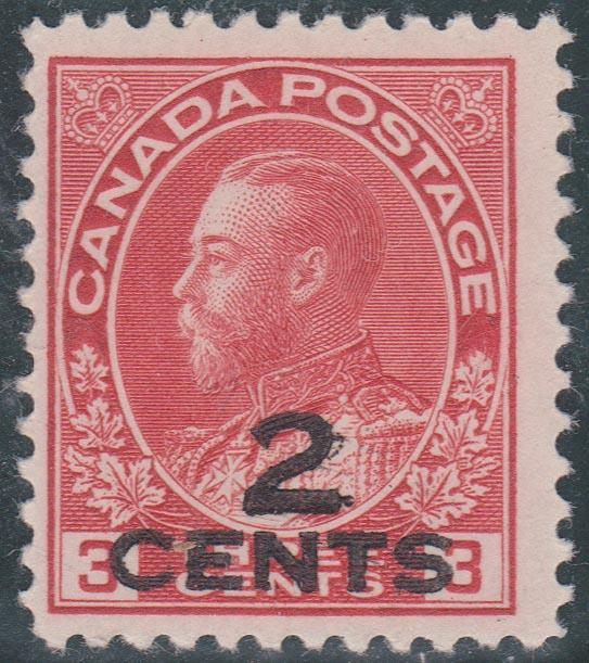 Canada - #140 1926 Two Line Provisional Fine, Hinged