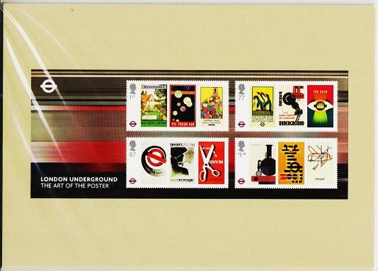 Great Britain. 2013 London Underground. PHQ Cards(5) Unused