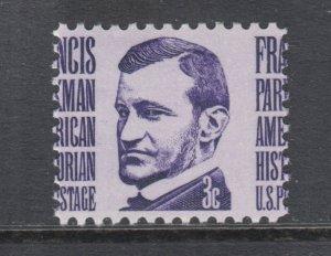 US Sc 1281 MNH. 1965 3c Francis Parkman misperf