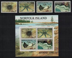 Norfolk Marine Life 4v+MS SG#378-MS382