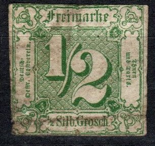 Thurn And Taxis #9 F-VF Used  CV $95.00  (X5176)