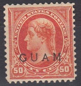 Guam 11 MLH F/VF 1899 SCV $350.00