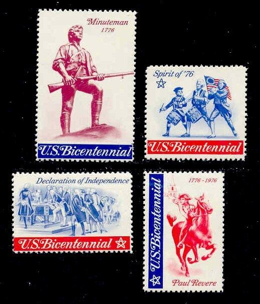 US 1976 Bicentennial Poster Stamps