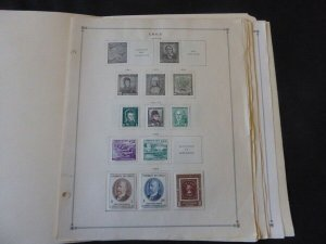 Chile 1949-1980 Mint/Used Stamp Collection on Album Pages