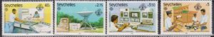 1983 Seychelles # 507-510 MNH World Communication Year