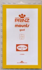 Prinz Scott Stamp Mount 115/265 BLACK Background Pack of 5