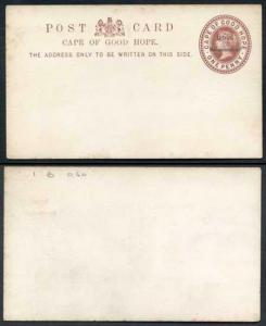 British Bechuanaland O/P on Cape of Good Hope QV 1d Brown Postcard Mint