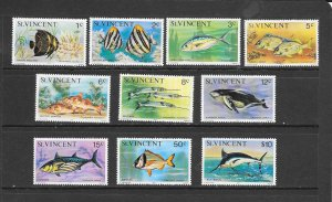 FISH - ST VINCENT #407/425 (DATED 1977) MNH