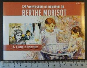 St Thomas 2015 bertha morisot art women children s/sheet mnh