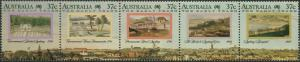 Australia 1988 SG1137a The Early Years strip of 5 MNH